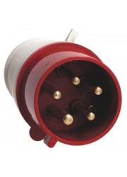 Вилка 3P+PE+N 16А 380В IP44 ЭКФ ps-015-16-380