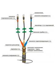 Муфта кабельная концевая 10КНТпН-3х(35-50) с наконеч. Нева-Транс