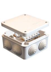 Коробка распределительная ОП 105х105х56 крепление на винтах белая 12 клемн. IP54 ЭПП 110043