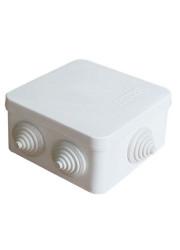 Коробка распр. ОП 84х84х45 7 выходов 3 гермоввода IP54 крышка защелкивающаяся бел. Epplast 120071