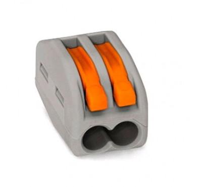 Клеммник WAGO 2х(0.08-4.0) 222-412 с нажимным рычагом