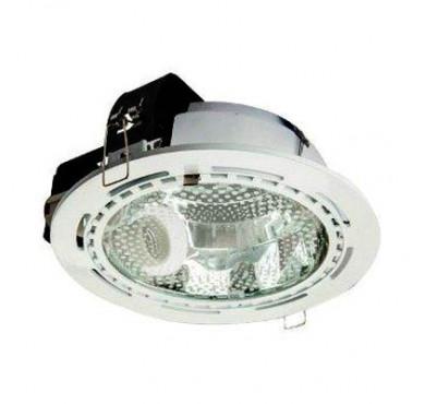 Светильник Downlight 226 01 01 круглый встраиваемый для компакт. люм. лампы 2х26Вт E27 со стеклом бел. ИТАЛМАК IT8143
