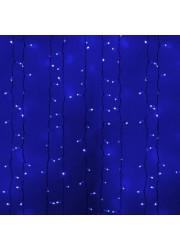 Электрогирлянда Светодиодный Дождь ПЛЕЙ-ЛАЙТ 2х1.5м 360LED синий NEON-NIGHT 235-113