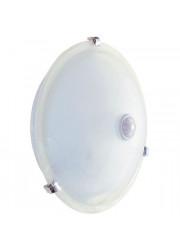 Светильник НПО 3231Д 2х25Вт E27 бел. с дат. движ. ИЭК