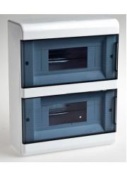 Щиток навесной 18 модулей с прозр. дверью Рувинил 68018