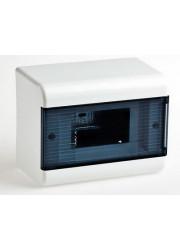 Щиток навесной 6 модулей с прозр. дверью Рувинил 68026