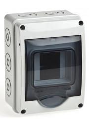 Бокс ОП 3 модуля IP65 с прозр. дверью Рувинил 69003