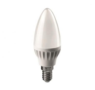 Лампа светодиодная 71 629 OLL-C37-6-230-4K-E14-FR 6Вт свеча 4000К белый E14 470лм 176-264В ОНЛАЙТ 19207