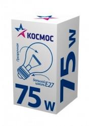 Лампа накаливания А55 75Вт E27 220-240В прозр. КОСМОС LKsmSt55CL75E27v2