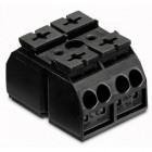 Клеммник 2х(0.5-4) блок 2 пол. черн. WAGO 862-2552