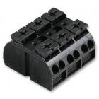 Клеммник 3х(0.5-4) блок 3 пол. черн. WAGO 862-503