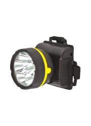Фонарь светодиодный налобный 909LED5 (5LED 1 режим; 3хR6 черн.) Ultraflash 11781