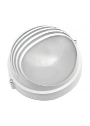 Светильник НПБ 1107 белый круг реснички 100Вт IP54 Альфа Лайт