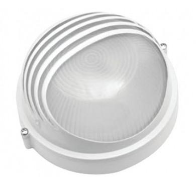 Светильник НПП 1307 белый круг реснички 60Вт IP54 ИЭК