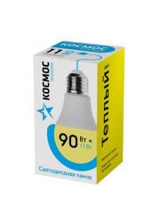 Лампа светодиодная LED Экономик А60 11Вт 220В E27 3000К КОСМОС LkecLED11wA60E2730