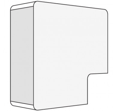 Угол плоский для кабель-канала 25х17 APM ДКС 00415