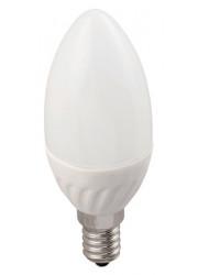 Лампа светодиодная ECO C35 свеча 5Вт 230В 3000К E14 ИЭК LLE-C35-5-230-30-E14