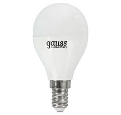 Лампа светодиодная LED Elementary Globe E14 8Вт 4100К Gauss 53128