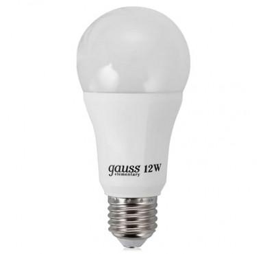 Лампа светодиодная LED Elementary А60 12Вт E27 2700К Gauss 23212