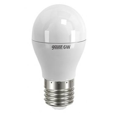 Лампа светодиодная LED Elementary Globe 6Вт E27 6500К Gauss 53236