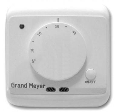 Термостат мех.  Grand Meyer MST-2 датчик пола, датчик возд. 3.6кВт 16А белый