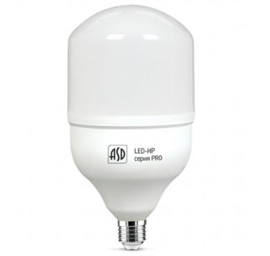 Лампа светодиодная LED-HP-PRO 50Вт 4000К белый E27 4500лм 160-260В ASD 4690612007014