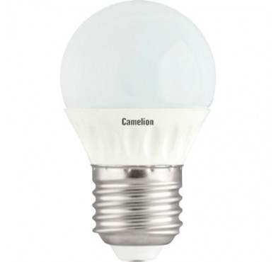 Лампа светодиодная LED5-G45/830/E27 5Вт 220В Camelion 12028
