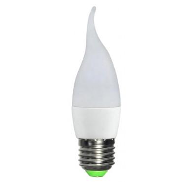 Лампа светодиодная LED 5Вт Свеча на ветру E27 3000К ЭКОНОМКА Eco_LED5wCWE2730
