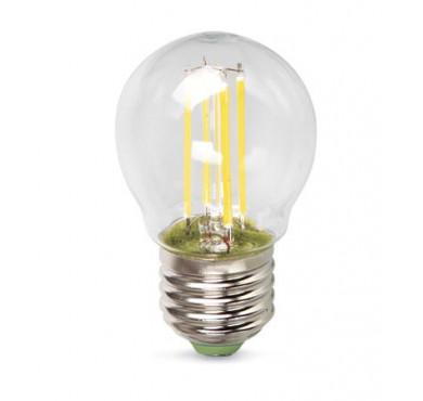 Лампа светодиодная LED Филамент 5Вт Шарик 45мм 160-260В E27 450лм 4500К ЭКОНОМКА EcoLedFL5wGL45E2745