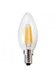 Лампа светодиодная LED Филамент 5Вт Свеча 160-260В E14 450лм 2700К ЭКОНОМКА EcoLedFL5wCNE1427