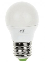 Лампа светодиодная LED-шар-standard 5Вт шар 3000К тепл. бел. E27 450лм 160-260В ASD 4690612002163