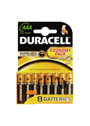 Элемент питания ААА LR LR03-8BL BASIC (блист.8шт) Duracell C0033441