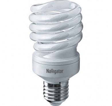 Лампа люминесцентная компакт. 94 053 NCL-SF10-25-860-E27 25Вт E27 спиральная 6500К Navigator 13102