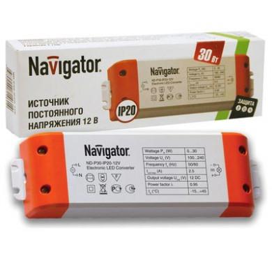 Драйвер 71 461 ND-P30-IP20-12V 30Вт Navigator 71461