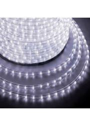 Шнур светодиодный Дюралайт чейзинг круглый 13мм (бухта 100м) белый NEON-NIGHT 121-325