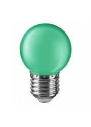 Лампа светодиодная 71 828 NLL-G45-1-230-G-E27 1Вт шар E27 220-240В зел. Navigator 19805