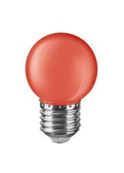 Лампа светодиодная 71 827 NLL-G45-1-230-R-E27 1Вт шар E27 220-240В красн. Navigator 19804