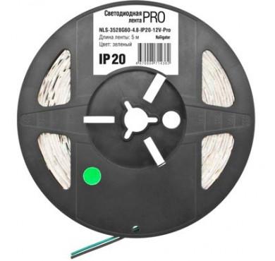 Лента светодиодная 71 436 NLS-3528G60-4.8-IP20-12В-Pro R5 (уп.5м) зеленая Navigator 18406