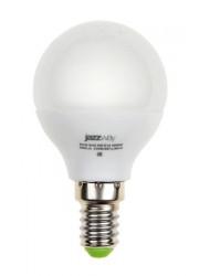 Лампа светодиодная PLED-ECO-G45 5Вт шар 3000К тепл. бел. E14 400лм 220-240В JazzWay 1036896A
