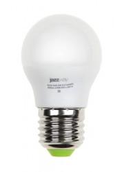 Лампа светодиодная PLED-ECO-G45 5Вт шар 3000К тепл. бел. E27 400лм 220-240В JazzWay 1036957A