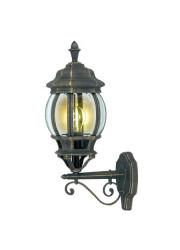 Светильник Praha бра вверх черн. зол. декор. стекло IP44 E27 DUWI 24091 4