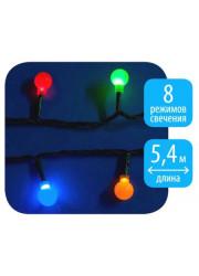Электрогирлянда светодиодная Разноцветные шарики ULD-S0540-060/DGA MULTI IP20 COLORBALLS 60LED 5.4м Uniel 07928