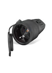 Разъем штепсельный с заземл. каучук 16А 250В IP44 (еврослот) UNIVersal 602228