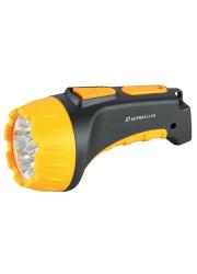 Фонарь светодиодный LED 3807 (аккум 220В черн/жел. 7 LED; 2 режима SLA пласт. короб) Ultraflash 9216