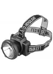 Фонарь светодиодный налобный аккумуляторный LED 5364 (220В LED 2 режима; черн.) Ultraflash 11258