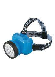 Фонарь светодиодный налобный аккумуляторный LED 5361 (220В 12LED 2 режима; голуб.) Ultraflash 12420