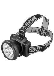 Фонарь светодиодный налобный аккумуляторный LED 5363 (220В 9LED 2 режима; черн.) Ultraflash 11257