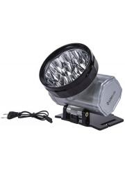 Фонарь светодиодный налобный аккумуляторный LED 5371 (220В LED10 2 режима; серебр.) Ultraflash 12350