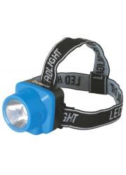 Фонарь светодиодный налобный аккумуляторный LED 5374 (220В LED 1 режим; голуб.) Ultraflash 12427
