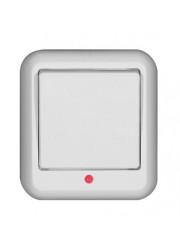 Выключатель 1-клавишный ОП Прима 6А с индикацией белый SchE A16-046-BI (А16-046-би)